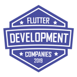 flutter app development companies - badge