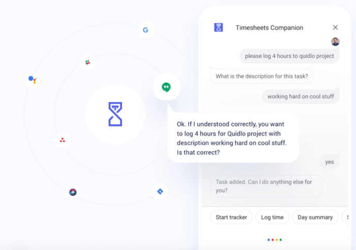 Chatbots in Timesheets